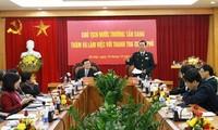 Presiden Negara Truong Tan Sang melakukan temu kerja dengan badan Inspektorat Pemerintah