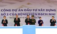 Upacara peresmian pembangunan basis kedua Rumah Sakit Bach Mai dan Vietnam-Jerman