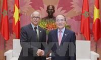 Ketua MN Vietnam, Nguyen Sinh Hung menerima Ketua Senat Maroko