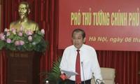 Deputi  PM Truong Hoa Binh melakukan temu kerja dengan Kementerian Dalam Negeri