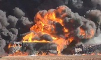 Pasukan aliansi melakukan serangan udara terhadap kaum pembangkang IS di Suriah
