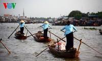 Плавучий рынок «Кайбэ» на юго-западе Вьетнама