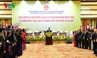 Нгуен Тан Зунг устроил приём в честь создания Сообщества АСЕАН и Нового года Огненной обезьяны