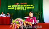 Нгуен Тхи Ким Нган встретилась с избирателями города Кантхо