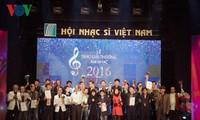 Союз вьетнамских композиторов вручил музыкальную премию за 2016 год