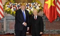 Генсек ЦК КПВ, президент СРВ Нгуен Фу Чонг провел переговоры с президентом США Дональдом Трампом