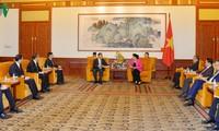 Нгуен Тхи Ким Нган встретилась с руководителями предприятий в Пекине