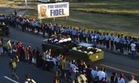 Les ultimes adieux des Cubains à Fidel Castro