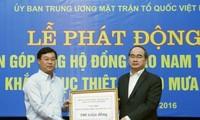 Nguyên Thiên Nhân lance un appel aux dons en faveur des victimes des crues