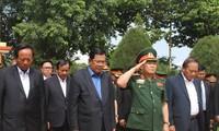 Le Premier ministre cambodgien visite les vestiges du corps 125