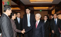 Nguyen Phu Trong rencontre des entreprises chinoises à Zhejiang