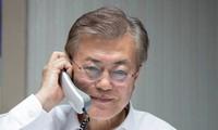 Le président sud-coréen s'entretient avec les dirigeants chinois et japonais au téléphone