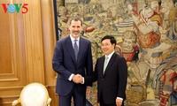 Pham Binh Minh reçu par le roi Felipe VI d'Espagne