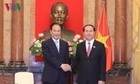 Tran Dai Quang reçoit le chef de l'agence Xinhua