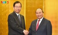 Nguyen Xuan Phuc rencontre des hommes politiques et des entrepreneurs japonais