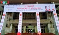 Activités de réponse à la journée mondiale du donneur de sang
