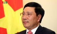 Déplacement de Pham Binh Minh à Thai Nguyen