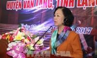 Truong Thi Mai à une fête de grande union nationale à Lang Son
