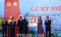 Dang Thi Ngoc Thinh au 40ème anniversaire de l'Université de génie civile du Sud-Ouest