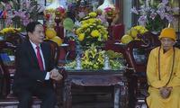Voeux du Têt du Front de la patrie du Vietnam à l'Eglise bouddhique