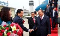 Le Premier ministre Nguyen Xuan Phuc est arrivé au Laos