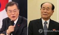 Moon Jae-in et Kim Yong-nam devraient se rencontrer, mais pas en tête à tête