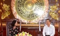 Déplacement de Truong Thi Mai à Bac Liêu