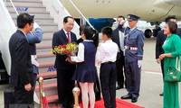 Le président de la République arrive à Tokyo