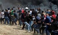 Gaza: des Palestiniens manifestent à la frontière avec Israël