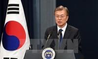 Moon Jae-in plaide pour un soutien aux efforts de paix avec Pyongyang