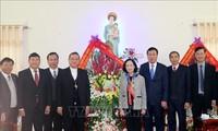 Noël : la chef de la commission de sensibilisation présente ses voeux au diocèse de Bui Chu