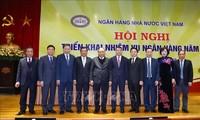 Nguyên Xuân Phuc à la réunion du secteur bancaire