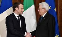 Les présidents français et italien «réaffirment l'importance» de la relation entre les deux pays