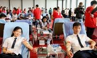 Ouverture de la campagne de don du sang «Printemps rose»