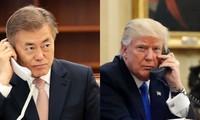 Donald Trump informe Moon Jae-in des résultats du sommet de Hanoï
