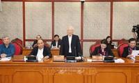 Nguyên Phu Trong préside une réunion sur l'édification du Parti