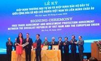 La signature de l'EVFTA et de l'EVIPA vue par les médias européens
