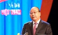 Le Premier ministre Nguyên Xuân Phuc à la célébration du 90e anniversaire de la CGTV