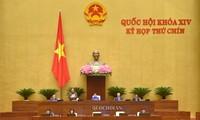 9e session de la 14e législature: une session spéciale