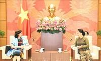Nguyên Thi Kim Ngân reçoit l'ambassadrice de Cuba