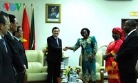 Chủ tịch nước Trương Tấn Sang hội kiến Chủ tịch Quốc hội Mozambique