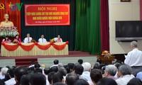 Ứng cử viên đại biểu Quốc hội khóa XIV tiếp xúc cử tri, vận động bầu cử