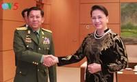 Chủ tịch Quốc hội Nguyễn Thị Kim Ngân tiếp Thống tướng Myanmar Min  Aung Hlaing