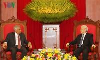 Tổng Bí thư Nguyễn Phú Trọng tiếp Thủ tướng Sri Lanka Ranil Wickremesinghe