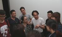 Đạo diễn Lê Lâm nói chuyện với các sinh viên trường Đại học Sân khấu điện ảnh - Ảnh; Cao Mạnh Tiến