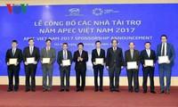 Công bố các nhà tài trợ cho năm APEC Việt Nam 2017