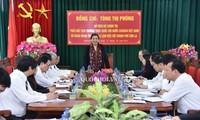 Phó Chủ tịch Thường trực Quốc hội Tòng Thị Phóng làm việc với thành phố Sơn La