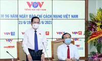 Phó Chủ tịch thường trực Quốc hội Trần Thanh Mẫn thăm và chúc mừng Đài Tiếng nói Việt Nam nhân Ngày 21/6