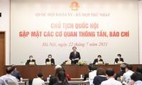 Chủ tịch Quốc hội Vương Đình Huệ chủ trì họp báo sau kiện toàn nhân sự lãnh đạo Quốc hội