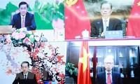 Chủ nhiệm Ủy ban Kiểm tra Trung ương điện đàm với Bí thư Ủy ban Kiểm tra Kỷ luật Trung ương Trung Quốc
